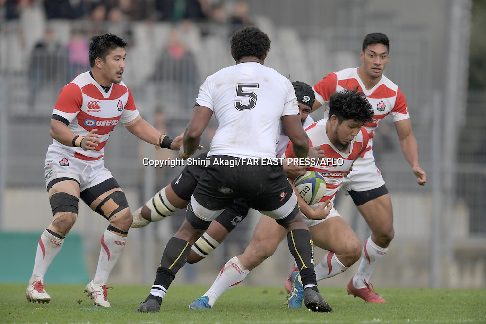 Shota Horie (JPN), NOVEMBER 26, 2016 - Rugby : Rugby test match between Fiji and Japan at the Stade de la Rabine in Vannes, France. (Photo by FAR EAST PRESS/AFLO)