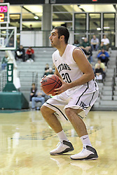 16 November 2013:  Pat Sodemann during an NCAA mens division 3 basketball game between the Aurora University Spartans  and the Illinois Wesleyan Titans in Shirk Center, Bloomington IL