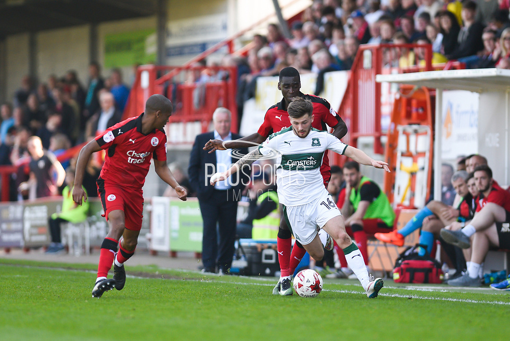 Plymouth Argyle midfielder Matthew Kennedy (16) during the EFL Sky Bet League 2 match between Crawley Town and Plymouth Argyle at the Checkatrade.com Stadium, Crawley, England on 8 April 2017. Photo by David Charbit.