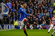 Borna Barisic of Rangers plays the ball back to his defense during the Ladbrokes Scottish Premiership match between Rangers and Hamilton Academical FC at Ibrox, Glasgow, Scotland on 16 December 2018.