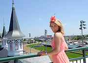 Longines Ambassador of Elegance and World Alpine Cup skier Mikaela Shiffrin enjoys the view at Churchill Downs on Longines Kentucky Oaks Day, Friday, May 1, 2015, in Louisville, Ky. Longines, the Swiss watch manufacturer known for its luxury timepieces, is the Official Watch and Timekeeper of the 141st annual Kentucky Derby. (Photo by Diane Bondareff/Invision for Longines/AP Images)