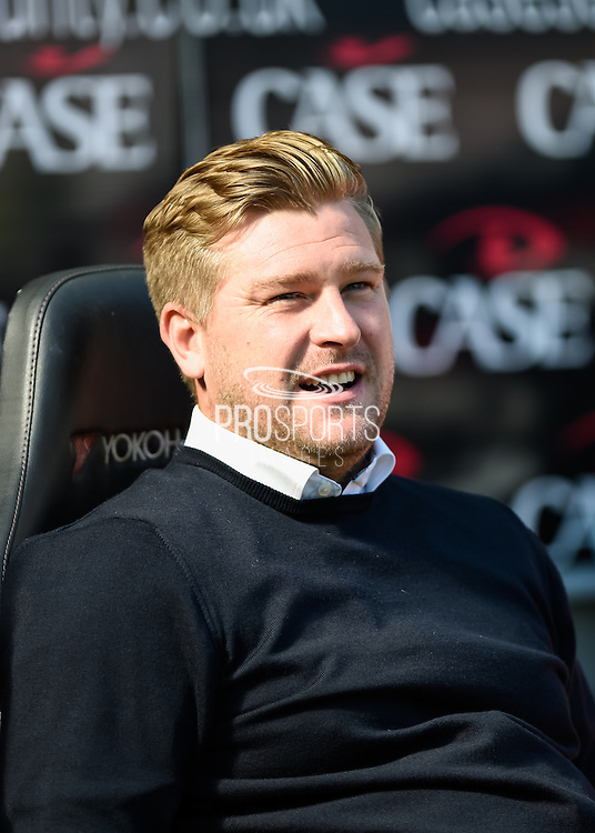Milton Keynes Dons manager Karl Robinson during the Sky Bet Championship match between Milton Keynes Dons and Derby County at stadium:mk, Milton Keynes, England on 26 September 2015. Photo by David Charbit.