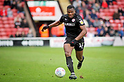 Barnsley defender Dimitri Cavare (12) during the EFL Sky Bet League 1 match between Walsall and Barnsley at the Banks's Stadium, Walsall, England on 23 March 2019.