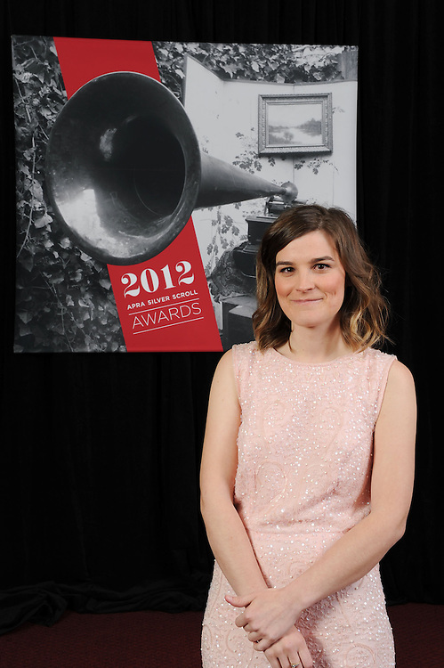 Lydia Cole, finalist at the APRA Silver Scrolls Awards 2012. Auckland Town Hall. 13 September 2012.