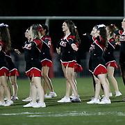 November 06, 2015; Oregon City, OR, USA; Oregon City cheerleaders perform at halftime.  Oregon City hosted Southridge at Pioneer Stadium.  Photo by David Blair