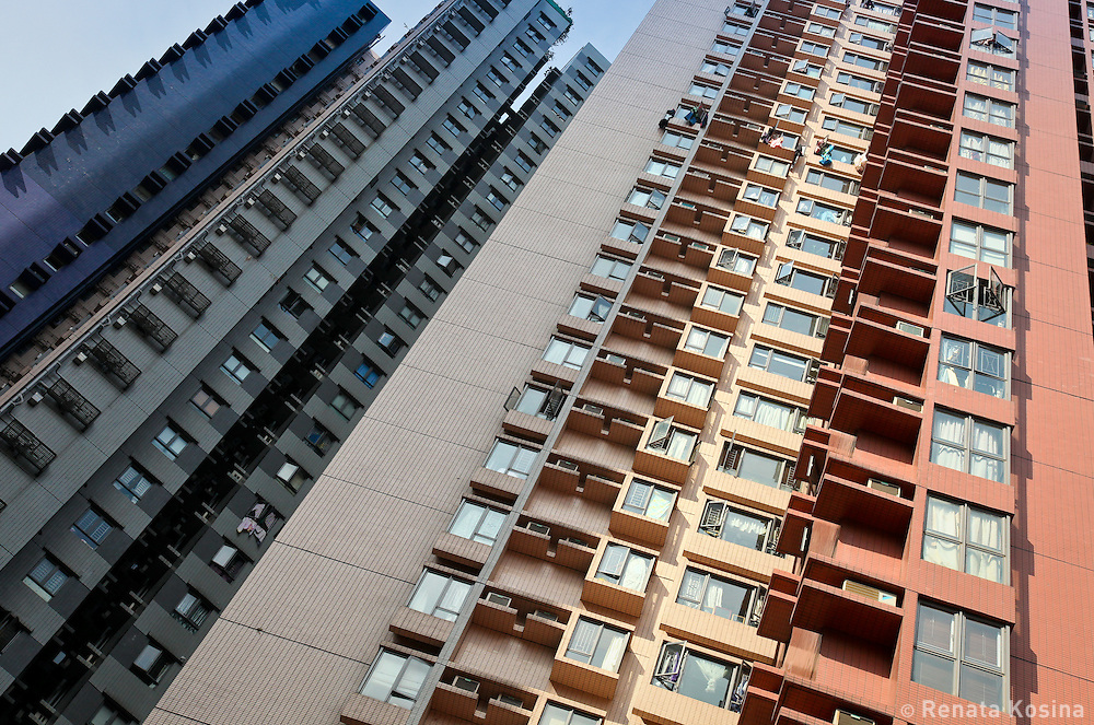 Residential towers in Hong Kong - one of the most densely populated areas on the planet.