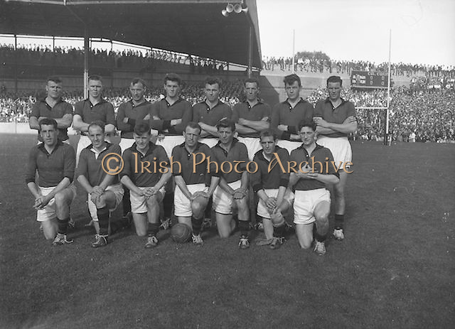 The Down team before the All Ireland Senior Gaelic Football Final, Down v. Offaly in Croke Park on the 24th September 1961.Down 3-6 Offaly 2-8. <br />