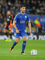 ALEKSANDAR DRAGOVIC  LEICESTER CITY  Leicester City v Leeds United EFL League Carabao Cup  Fourth Round, King Power Stadium Tuesday 24th October 2017, Score 2-1, Photo:Mike Capps