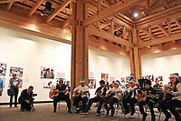 The Alisal Center for the Fine Arts Rondalla Guitar Ensemble performs at the December 5th, 2017 opening of the Stories from Salinas exhibition at the CSUMB Salinas Center for Arts and Culture in Oldtown. The exhibition celebrates the mentors, youth and families of the Salinas Youth Initiative.