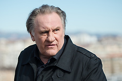 "French actor Gerard Depardieu poses during a photocall for the second season of the French TV show ""Marseille"" broadcasted and co-produced by US streaming video giant Netflix, on February 18, 2018 in Marseille, southern France. Photo by Clement Mahoudeau/ABACAPRESS.COM"