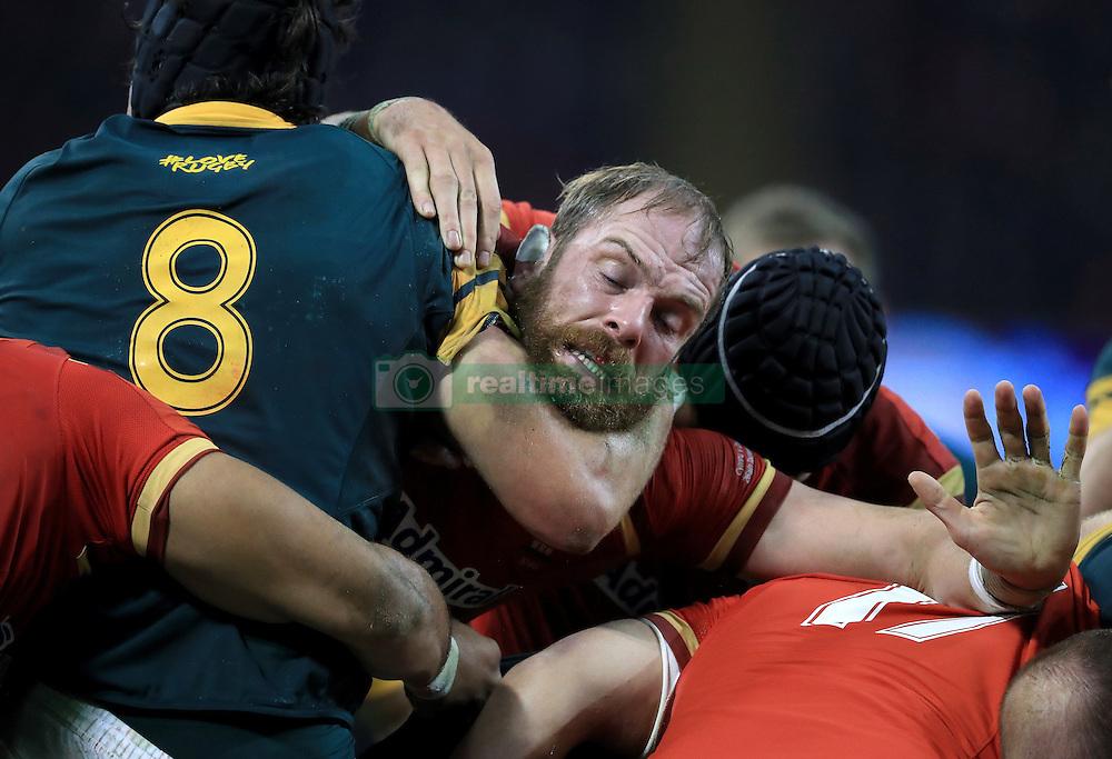 Wales Alun Wyn Jones in action