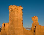 Moonrise at Monument Rocks, Kansas