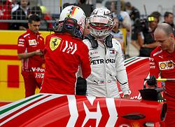 October 20, 2018 - Austin, United States - Motorsports: FIA Formula One World Championship; 2018; Grand Prix; United States, FORMULA 1 PIRELLI 2018 UNITED S GRAND PRIX , Circuit of The Americas , #5 Sebastian Vettel (GER, Scuderia Ferrari)#44 Lewis Hamilton (GBR, Mercedes AMG Petronas F1 Team) (Credit Image: © Hoch Zwei via ZUMA Wire)