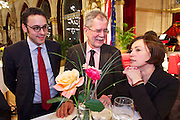 Vienna, Austria. Cocktail reception hosted by Mayor Michael Häupl at City Hall for international scientists and researchers living and working in Vienna.<br /> Alexander van der Bellen, Commissioner for Universities and Research (m.), Mag. Robert Kogler; Renata Schmidtkunz, TV journalist.