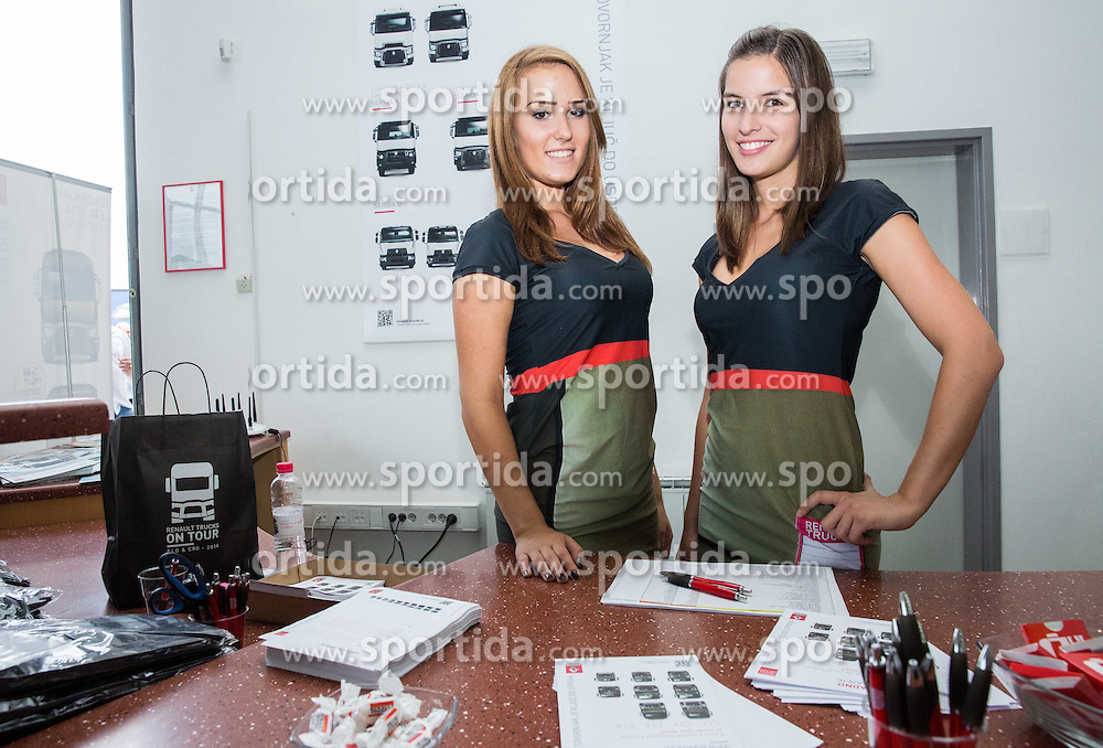 Eva Zitko and Tina Mehle at Renault trucks event, on September 2014, in Ljubljana.