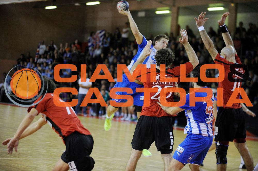 DESCRIZIONE : France Hand D1 Championnat de France D1 a Ivry <br /> GIOCATORE : HANSEN ESPEN LIE<br /> SQUADRA : Dunkerque<br /> EVENTO : FRANCE Hand D1<br /> GARA : Dunkerque Ivry<br /> DATA : 22/09/2012<br /> CATEGORIA : Hand D1 <br /> SPORT : Handball<br /> AUTORE : JF Molliere <br /> Galleria : France Hand 2012-2013 Action