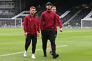 Harrison Reed of Norwich, Yanic Wildschut of Norwich and James Maddison of Norwich before the Sky Bet Championship match at Craven Cottage, London<br /> Picture by Paul Chesterton/Focus Images Ltd +44 7904 640267<br /> 05/08/2017