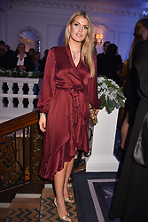 Lady Kitty Spencer at reception to celebrate the launch of the Claridge's Christmas Tree 2017 at Claridge's Hotel, Brook Street, London England. 28 November 2017.