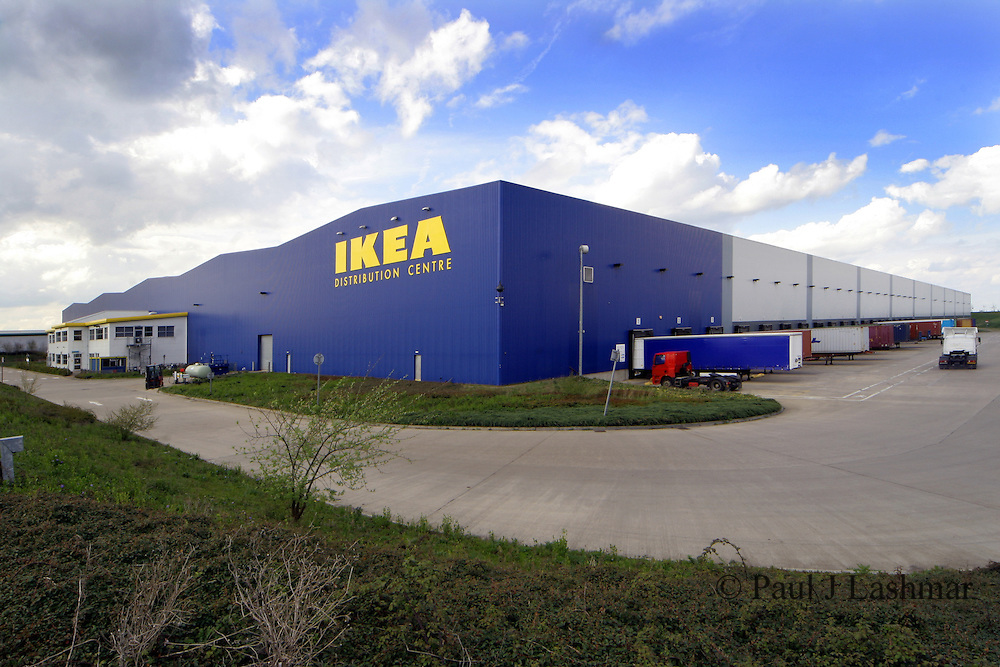 Photograph of the Ikea Distribution centre on the outskirts of the Northmaptonshire market town of Thrapston.<br />
