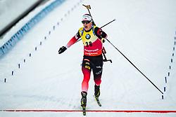 March 9, 2019 - –Stersund, Sweden - 190309 Johannes Thingnes Bö of Norway crosses the finish line in the Men's 10 KM sprint during the IBU World Championships Biathlon on March 9, 2019 in Östersund..Photo: Johan Axelsson / BILDBYRÃ…N / Cop 245 (Credit Image: © Johan Axelsson/Bildbyran via ZUMA Press)
