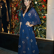 Binky Felstead attends the launch of the Aspinal of London store on Regent's Street St. James's on December 5, 2017 in London, England.