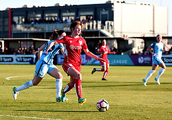 Chloe Arthur of Bristol City Women in action during the FA WSL 1 match between Bristol City Women and Manchester City Women at Stoke Gifford Stadium - Mandatory by-line: Paul Knight/JMP - 09/05/2017 - FOOTBALL - Stoke Gifford Stadium - Bristol, England - Bristol City Women v Manchester City Women - FA Women's Super League Spring Series