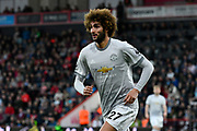 Marouane Fellaini (27) of Manchester United during the Premier League match between Bournemouth and Manchester United at the Vitality Stadium, Bournemouth, England on 18 April 2018. Picture by Graham Hunt.