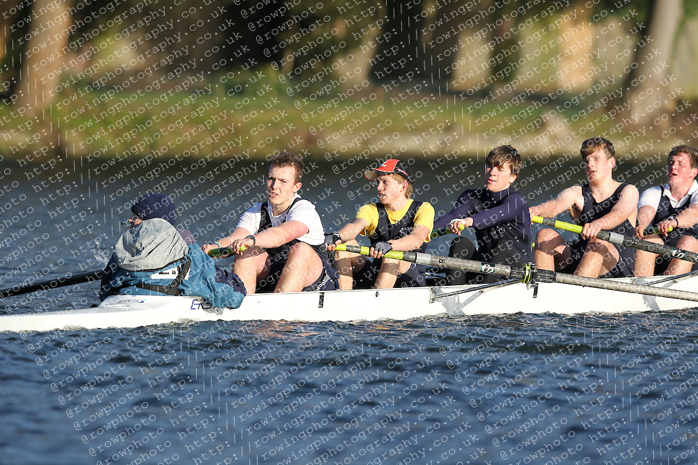 2012.02.25 Reading University Head 2012. The River Thames. Division 2. Eton College Boat Club Nov 8+