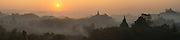 Sunrise over Stupas, Mrauk U, Burma