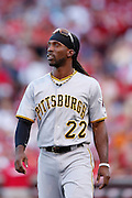 CINCINNATI, OH - JUNE 7: Andrew McCutchen #22 of the Pittsburgh Pirates looks on during the game against the Cincinnati Reds at Great American Ball Park on June 7, 2012 in Cincinnati, Ohio. The Pirates won 5-4 in ten innings. (Photo by Joe Robbins) *** Local Caption *** Andrew McCutchen