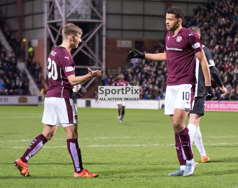 Heart of Midlothian's Osman Sow celebrates a penalty to make it 3-1 to the Gorgie team......(c) MARK INGRAM | SportPix.org.uk