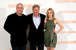 13.01.2011, Hotel Villamagna, Madrid, ESP, Photocall, Morning Glory, im Bild // Director Roger Michell, Harrison Ford and Rachel McAdams // during photocall for the movie Morning Glory, at the Hotel Villamagna in Madrid, Spain. EXPA Pictures © 2011, PhotoCredit: EXPA/ Alterphotos +++++ ATTENTION - OUT OF SPAIN/ESP +++++