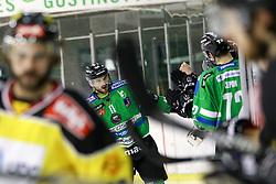 Ziga Pesut of Olimpija celebrate during ice-hockey match between HDD Telemach Olimpija and EV Vienna Capitals in EBEL league, on January 15, 2016 at Hala Tivoli, Ljubljana, Slovenia. Photo by Morgan Kristan / Sportida