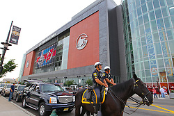 May 30; Newark, NJ, USA; The Prudential Center before the 2012 Stanley Cup Finals Game 1.  The Kings defeated the Devils 2-1.