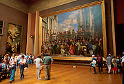 FRANCE, PARIS, CITY CENTER The Louvre Museum, the principal hall for paintings