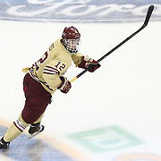 Kevin Hayes #12 of the Boston College Eagles on the ice during The Beanpot Championship Game at TD Garden on February 10, 2014 in Boston, Massachusetts. (Photo by Elan Kawesch)