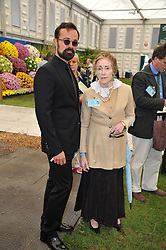 EVGENY LEBEDEV and the DOWAGER MARCHIONESS OF SALISBURY at the 2011 RHS Chelsea Flower Show VIP & Press Day at the Royal Hospital Chelsea, London, on 23rd May 2011.