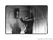 """Berlin, DEU, 17.01.1992: Kratzer auf dem Negativ des Films, Dietmar Diesner, Saxofon, reeds - Sven Ake Johansson, Sven-Åke Johansson, Schlagzeug, EDEL Jazz Berlin-Weissensee, Kreiskulturhaus """"Peter Edel"""" in Berlin Weissensee, SCHILKE_1992011711662100  [ Photo-copyright: Detlev Schilke, Postfach 350802, 10217 Berlin, Germany, Mobile: +49 (0)170 3110119, www.detschilke.de - Jegliche Nutzung nur gegen Honorar nach MFM, Urhebernachweis nach Par. 13 UrhG und Belegexemplare. Only editorial use, advertising after agreement! Eventuell notwendige Einholung von Rechten Dritter wird nicht zugesichert, falls nicht anders vermerkt. AGB/TERMS: http://www.detschilke.de/terms.html ]"""