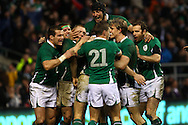 'Twickenham - Saturday, February 27th, 2010: The Ireland team celebrate Tommy Bowe's try during the RBS Six Nations match between England and Ireland at Twickenham. (Pic by Andrew Tobin/Focus Images)