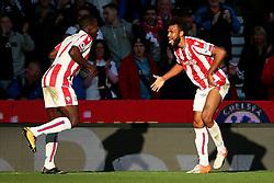 Eric Maxim Choupo Moting of Stoke City celebrates after scoring his sides first goal  - Mandatory by-line: Matt McNulty/JMP - 09/09/2017 - FOOTBALL - Bet365 Stadium - Stoke-on-Trent, England - Stoke City v Manchester United - Premier League