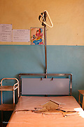 Bed in the public ward in the maternity unit of Antsirabe Hospital. Antsirabe Clinic Project sponsored by the Swedish Postal Code lottery. Madagascar. September 2015.<br /> (Operation Smile Photographer &ndash; Zute Lightfoot)