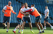 Tommy Makinson(C) during the England Rugby League captain's run ahead of the 3rd Autumn International Series Match at Elland Road, Leeds<br /> Picture by Stephen Gaunt/Focus Images Ltd +447904 833202<br /> 10/11/2018