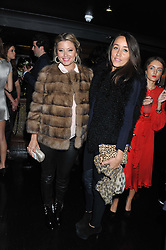Left to right, HOLLY CANDY and LUCY WALTON at the launch of Beulah's collaboration with Hennessy Gold Cup and a preview of the SS13 Collection held at The Brompton Club, 92b Old Brompton Road, London SW7 on 18th October 2012.