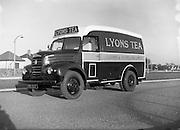 12/11/1954<br /> 11/12/1954<br /> 12 November 1954<br /> New Thames 4D diesel van for  J. Lyons and Co. Ltd., Tea wholesalers, Marlborough Street, Dublin.
