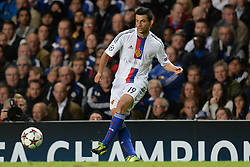 LONDON, ENGLAND - September 18: Basel's Behrang Safari  during the UEFA Champions League Group E match between Chelsea from England and Basel from Switzerland played at Stamford Bridge, on September 18, 2013 in London, England. (Photo by Mitchell Gunn/ESPA)
