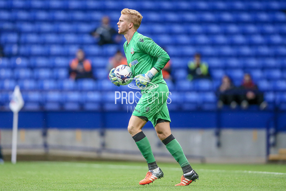 Ben Amos GK (Bolton Wanderers) collects the ball after a shot at goal from a free kick during the Pre-Season Friendly match between Bolton Wanderers and Burnley at the Macron Stadium, Bolton, England on 26 July 2016. Photo by Mark P Doherty.