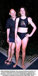 MISS AMANDA GLOVER, she represented Great Britain in beach volleyball at the Atlanta Olympics, and former Olympic swimming champion DUNCAN GOODHEW, at a reception in London on November 25th 1996.LTT 61