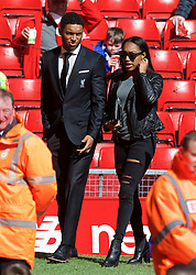LIVERPOOL, ENGLAND - Sunday, April 10, 2016: Liverpool's Joe Gomez arrives before the Premier League match against Stoke City at Anfield. (Pic by David Rawcliffe/Propaganda)