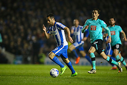 Sam Baldock of Brighton & Hove Albion on the attack - Mandatory by-line: Jason Brown/JMP - 10/03/2017 - FOOTBALL - Amex Stadium - Brighton, England - Brighton and Hove Albion v Derby County - Sky Bet Championship