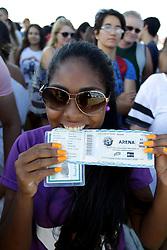 Luiza Schmitz foi a primeira planetaria a chegar no Planeta Atlântida 2014/SC, que acontece nos dias 17 e 18 de janeiro de 2014 no Sapiens Parque, em Florianópolis. FOTO: Itamar Aguiar/ Agência Preview